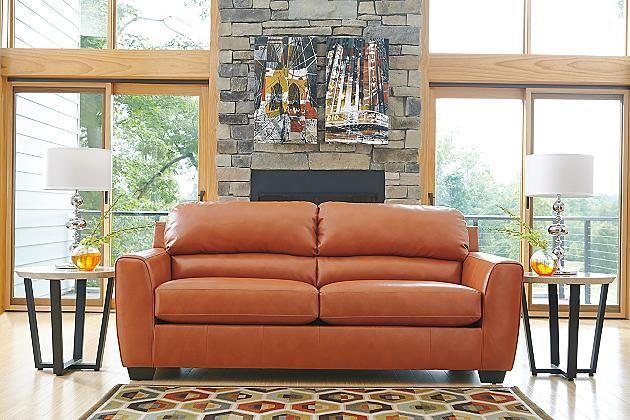 Orange Kaylor Durablend Queen Sofa Sleeper View 1 My Orange Sofa