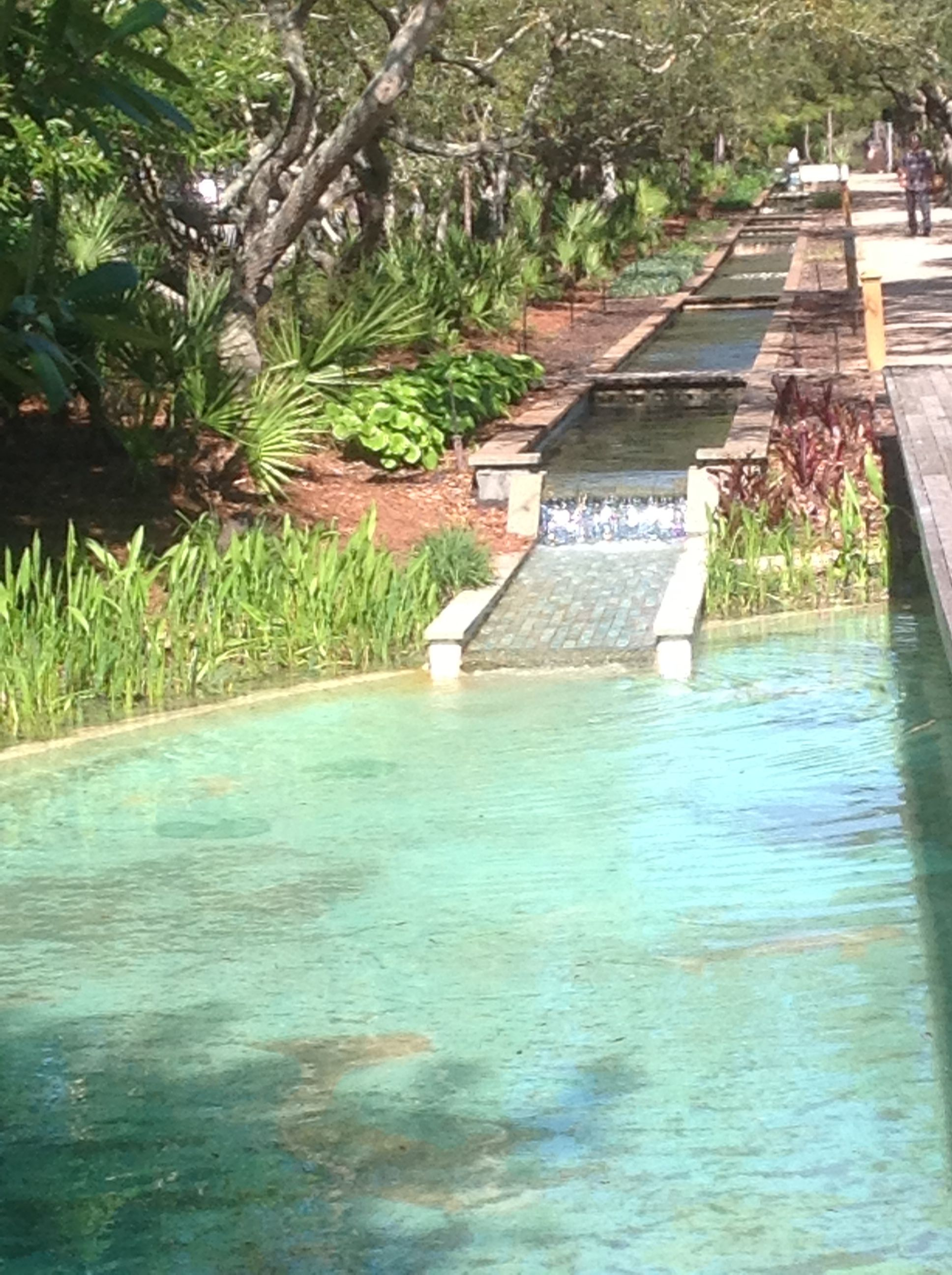 Gorgeous Fountain And Landscaping Features At Watercolor Florida