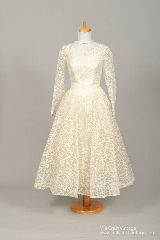 Vintage wedding tea dress   Sequin Tea Length Vintage Wedding Dress  Pinterest  Tea