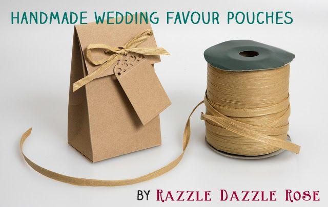 Handmade wedding favour pouches