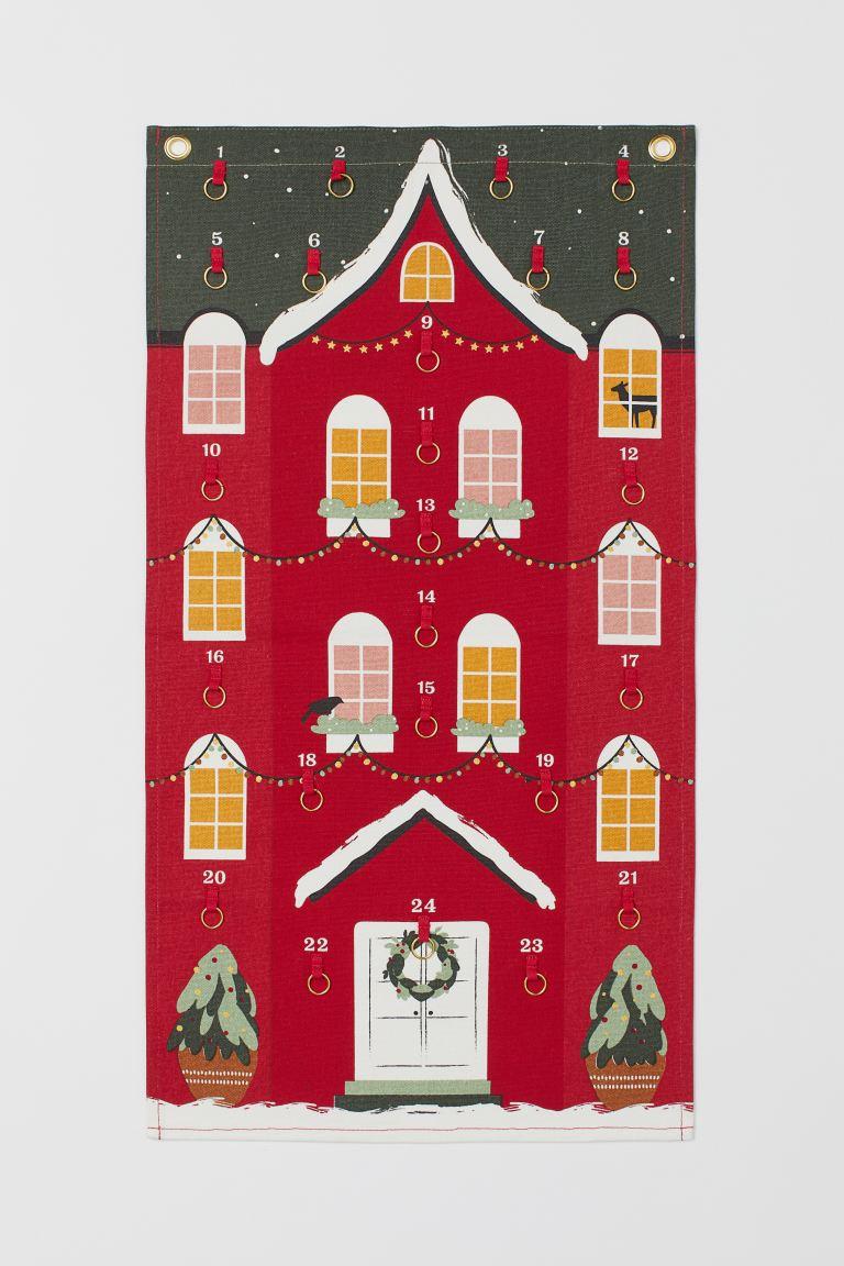 ścienny Kalendarz Adwentowy Czerwony Home H M Pl Diy Advent Calendar Fillers Diy Advent Calendar Advent Calendar House