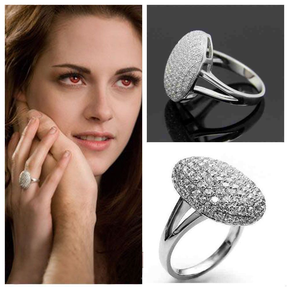 Valentines Day Gift for Her Twilight Saga Bella Silver CZ