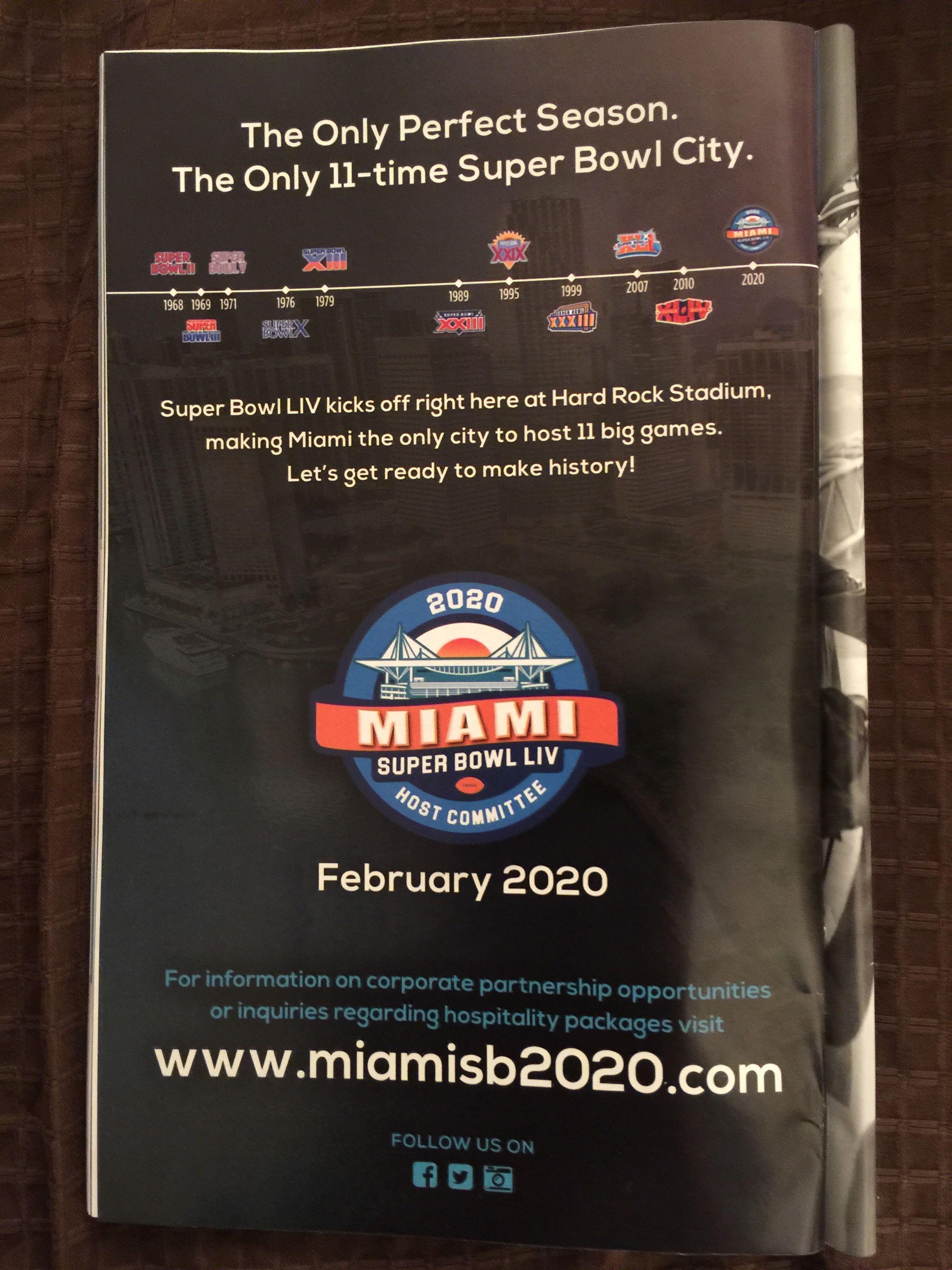 Super Bowl 2020 Events.Super Bowl Liv Miami 2020 Super Bowl Hard Rock Big Game