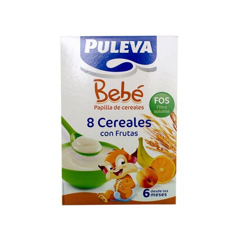 Papilla PULEVA Peques 8 Cereales con Frutas 500g - Granafarma