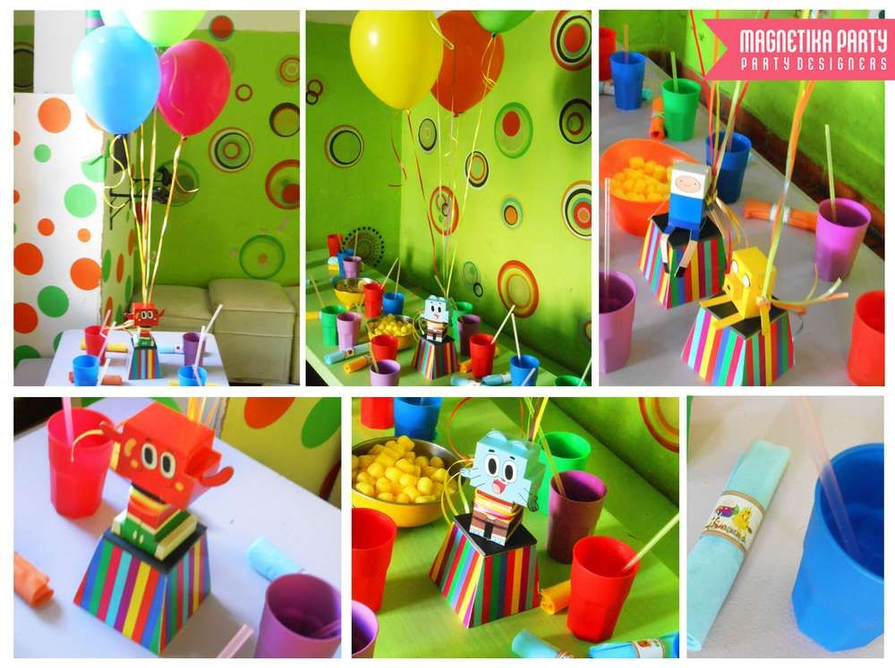 Amazing World Of Gumball Adventure Time Birthday Party Ideas