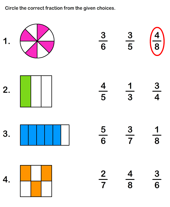 Fractions Worksheets – Working with Fractions Worksheets