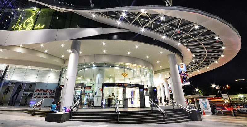 Dhoby Ghaut MRT at Plaza Singapura...