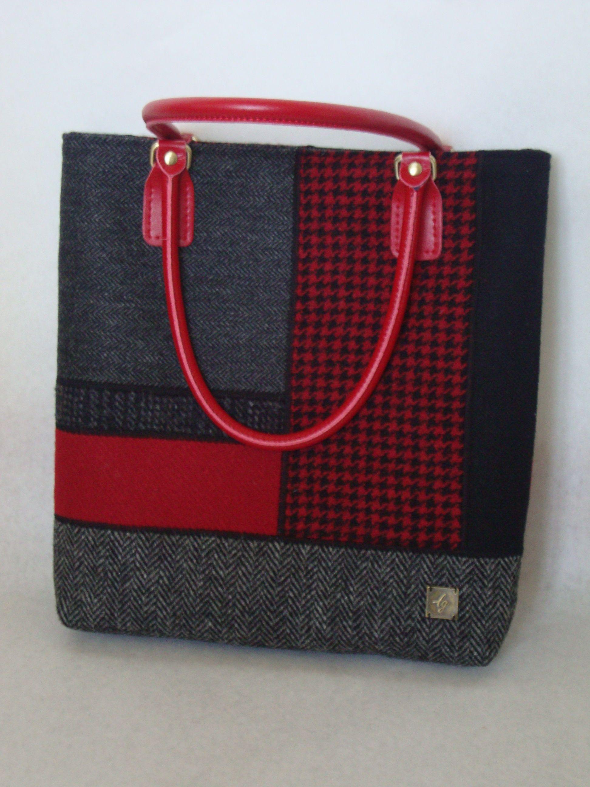Preciosa bolsa de tweed Harris hecha a mano, ¡un regalo perfecto!