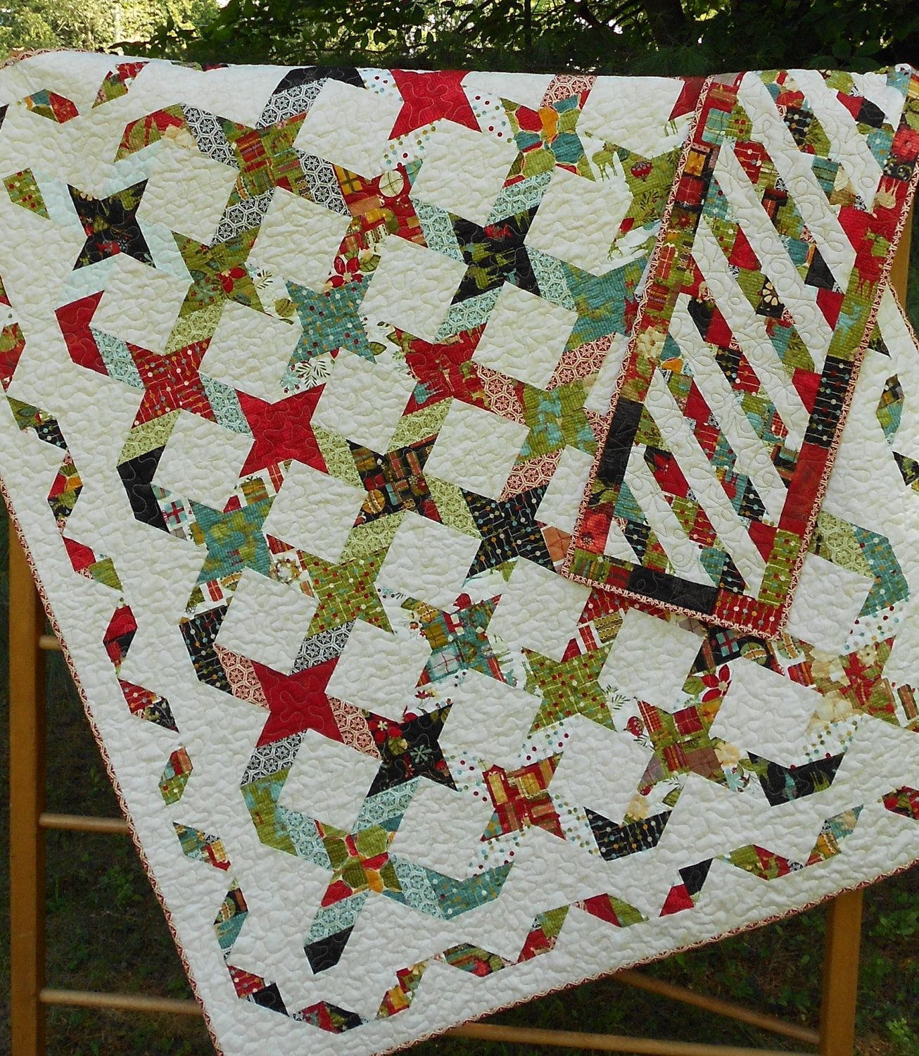 Quilt Patterns - Twisting With The Stars - 4 Quilt Sizes plus ... : jelly roll quilt size - Adamdwight.com