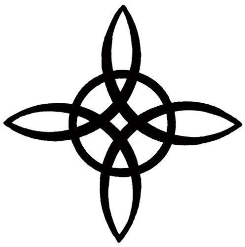 Witches Knot Binding Spell Symbol Set of 4 Temporary Tattoos