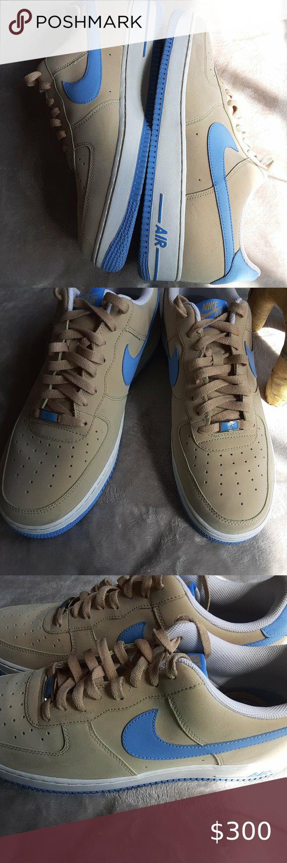 Nike Air Force 1 Linen University Blue
