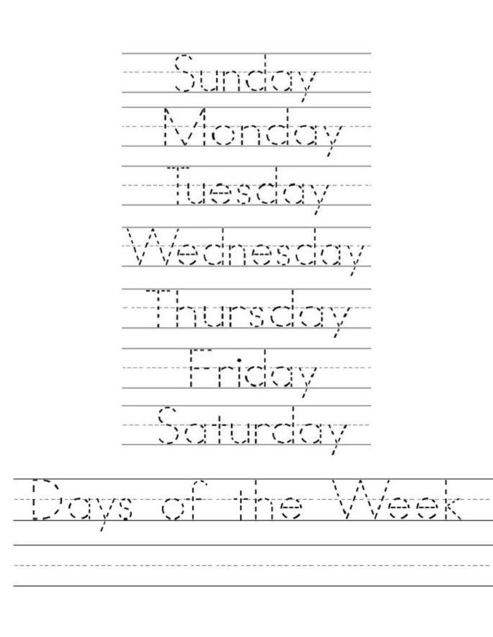 Days Of The Week Worksheets Loving Printable Printable Handwriting Worksheets Handwriting Worksheets Writing Worksheets