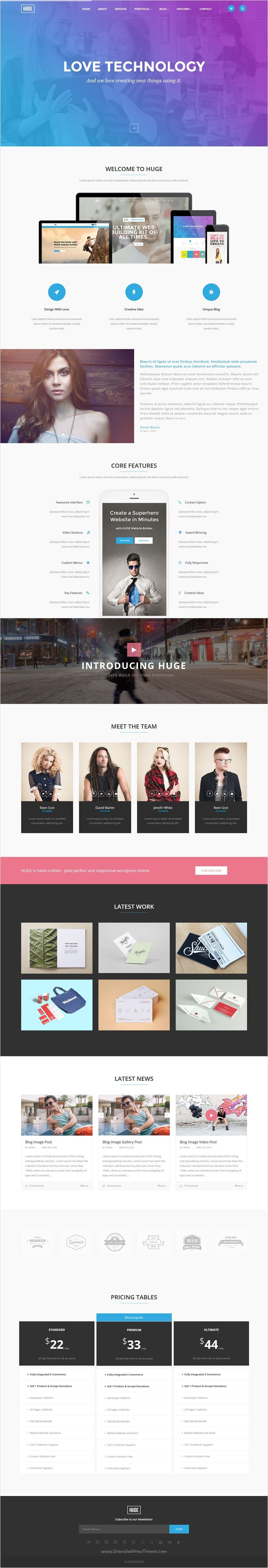 HUGE - Multipurpose HTML Template | Pricing table, Template and Ui ...