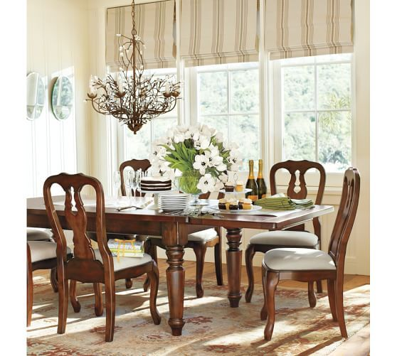 sumner table & queen anne chair set | pottery barn | coffee table