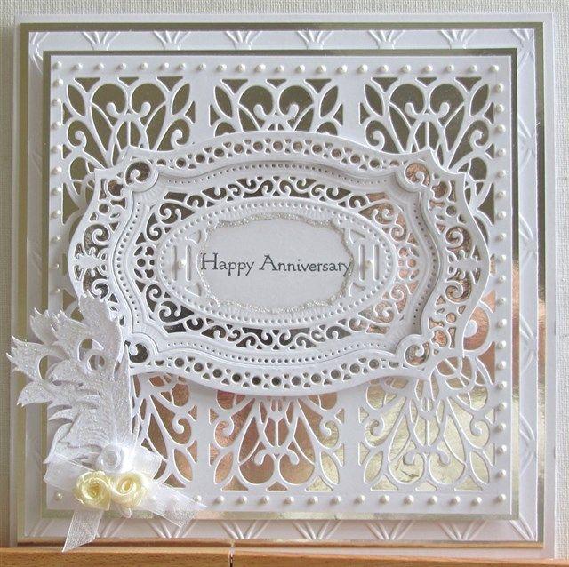 Silver Wedding Card Docrafts Com Sue Wilson 2