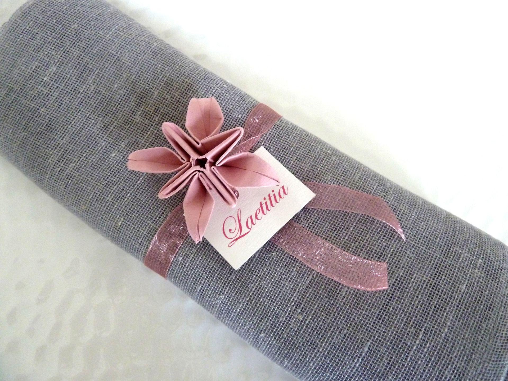 rond de serviette marques place pour mariage en origami fleur vieux rose en p d coration de. Black Bedroom Furniture Sets. Home Design Ideas