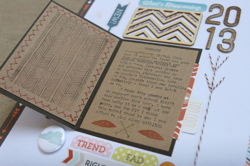 Oct Guest Designs | SuzMannecke stamping, stitching, wood veneers, Baker's twine, woodgrain   Love the herringbone stamp set in this kit! (Love all the stamps actually!) ;)