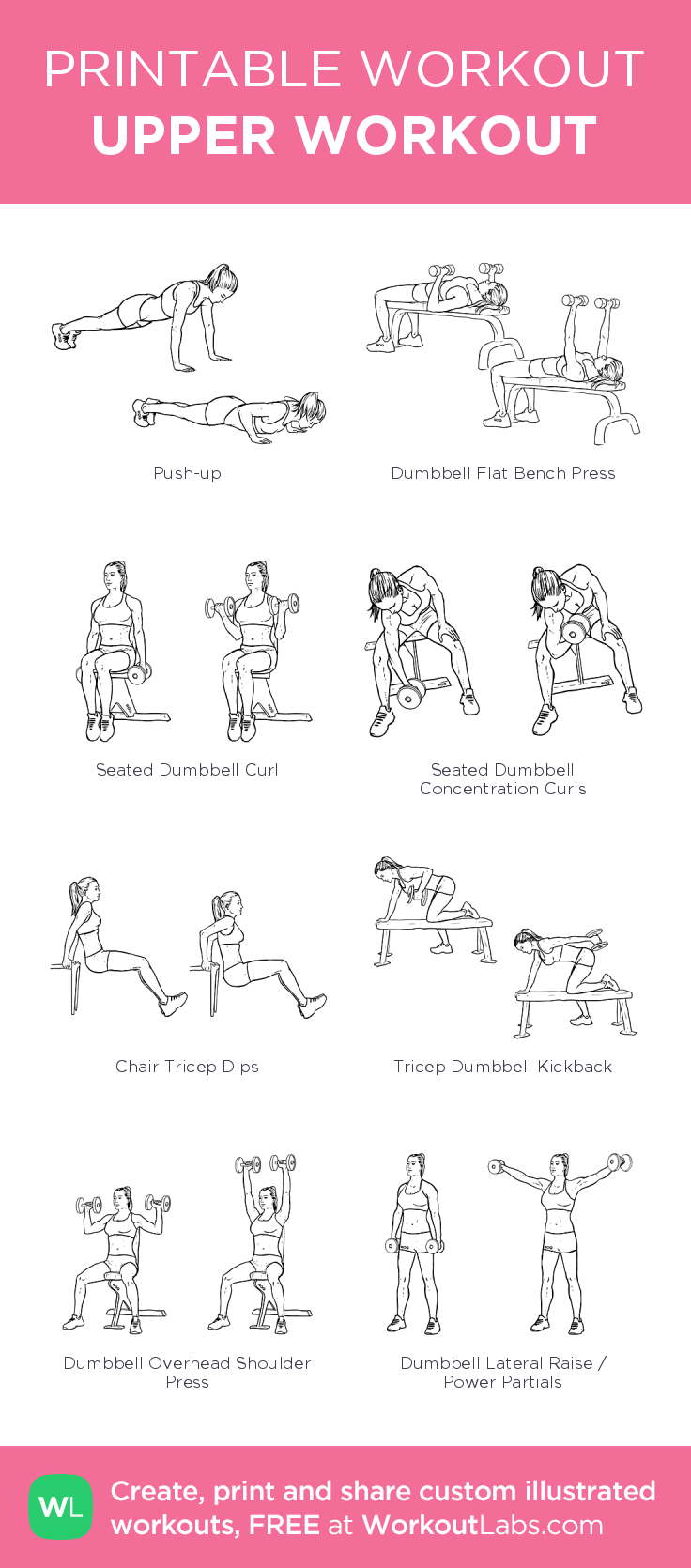 upper workout my visual workout created at workoutlabs com click