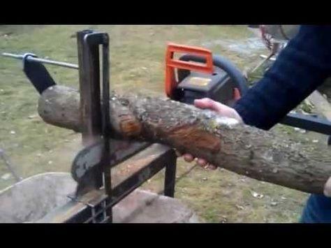 Support pour tronçonneuse système D   Bois de chauffage, Tronconneuse, Stockage de bois