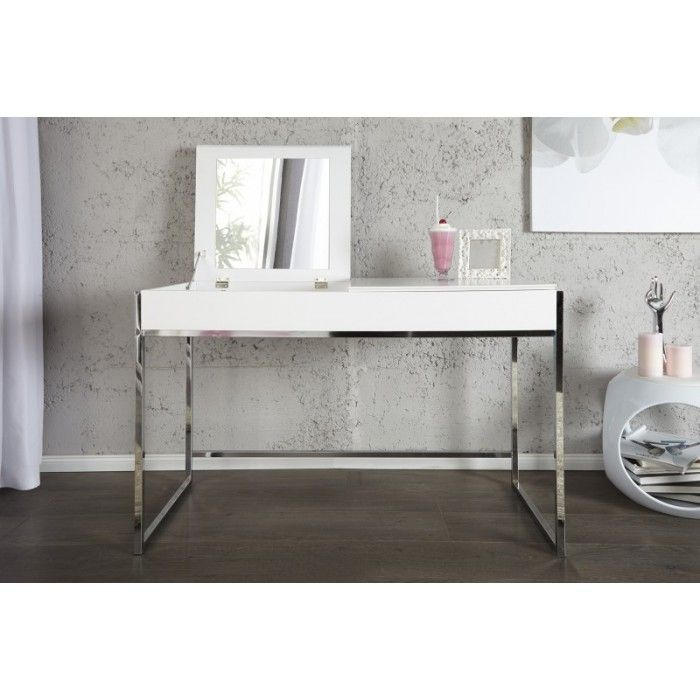 Uitgelezene hoogglans witte make up tafel   Tafel hoogglans wit, Make-up tafel BQ-02
