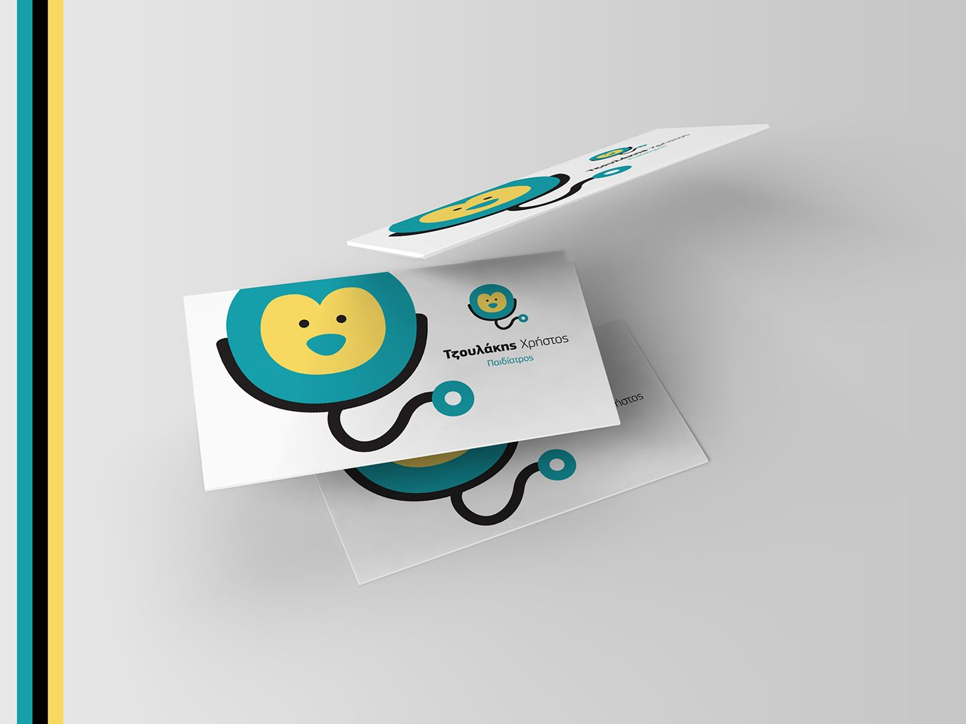 Chris Tzoulakis Md Msc Pediatrician On Behance Medical Business Card Business Cards Creative Free Printable Business Cards