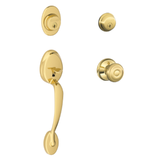 Plymouth Style Two sides keyed Handleset with Georgian Knob