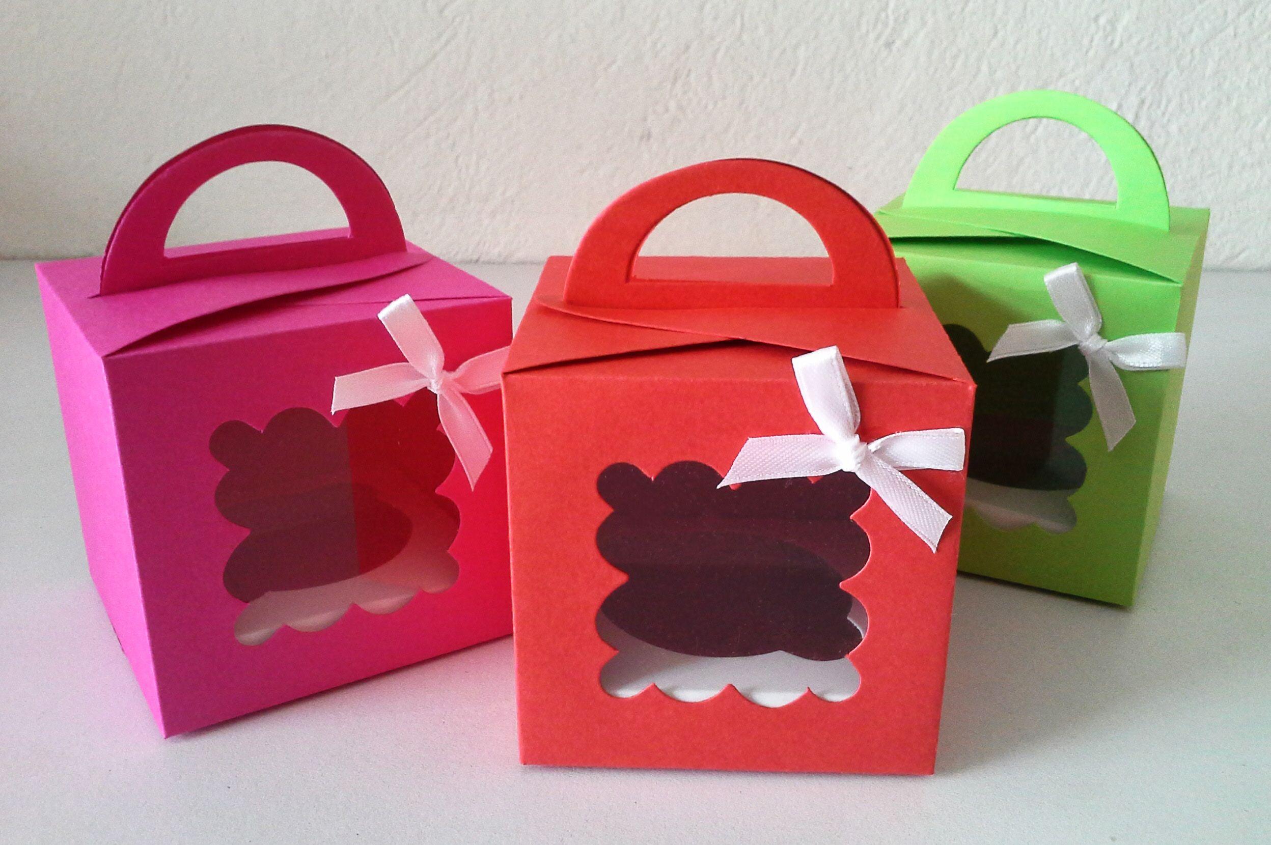 Cajas en colores brillantes para cupcakes No. 3 | Cajas para ...