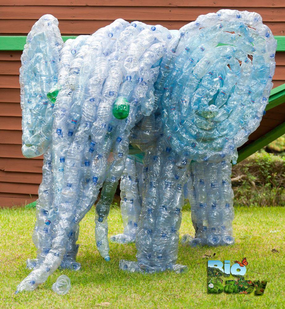 Las esculturas no s lo son de m rmol tambi n pueden ser de botellas recicladas generaci n - Reciclar marmol ...