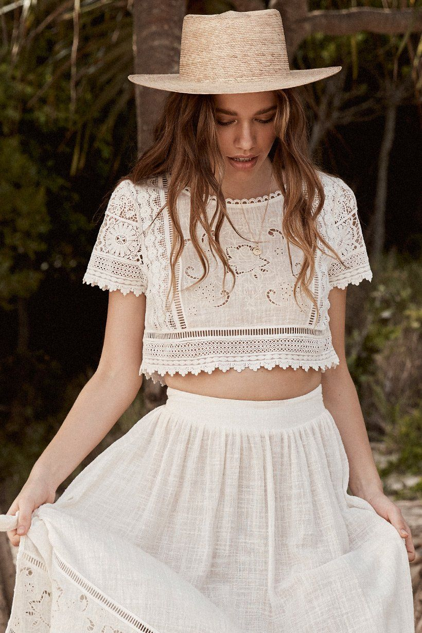 b7c674d2b79 Spell Abigail Lace Crop Top