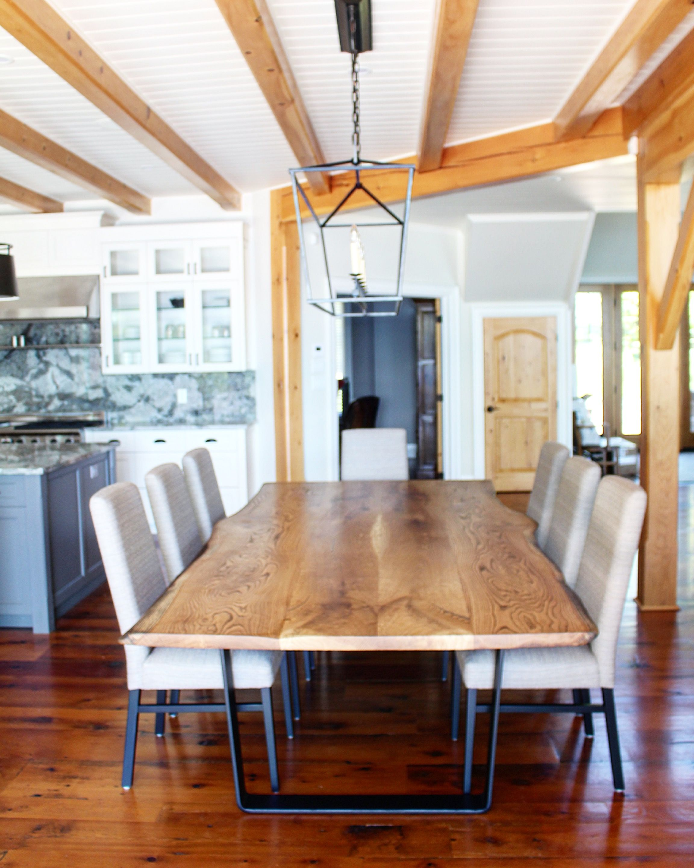 Live Edge White Oak Dining Table Created For Muskoka Cottage Sustainable Live Edge Tables And Furniture Oak