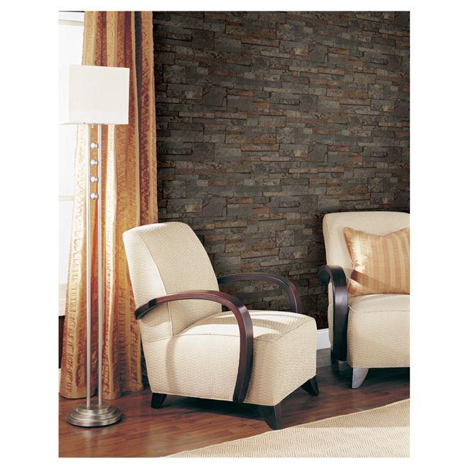 papier peint effet brique deco pinterest. Black Bedroom Furniture Sets. Home Design Ideas