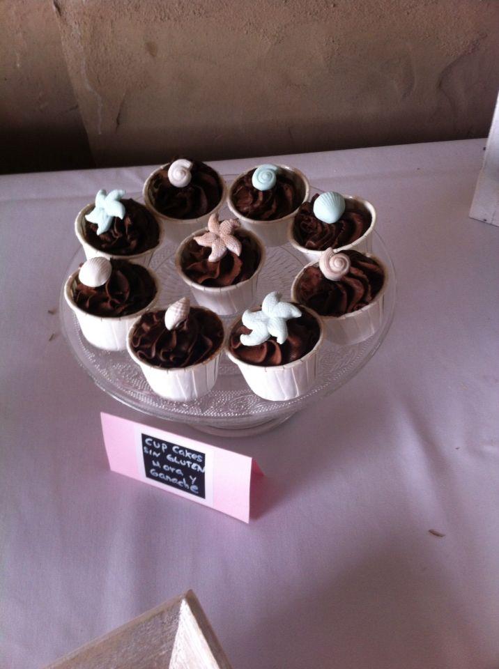 Cup cakes de Mora y chocolate