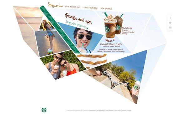 Frappucino, Starbucks  #Triangle #Blanc