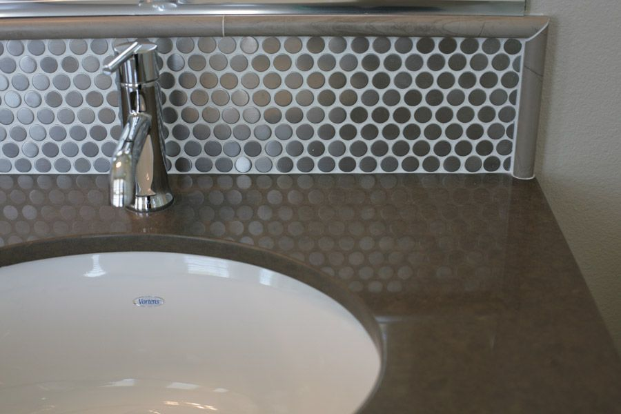 Res 5 Upgraded Countertop And Tile Backsplash At Master Bath We Paired An