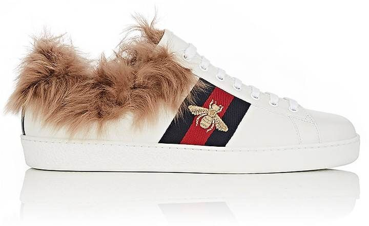 31f8c0390f7 Gucci Men s Ace Fur-Lined Sneakers in 2018
