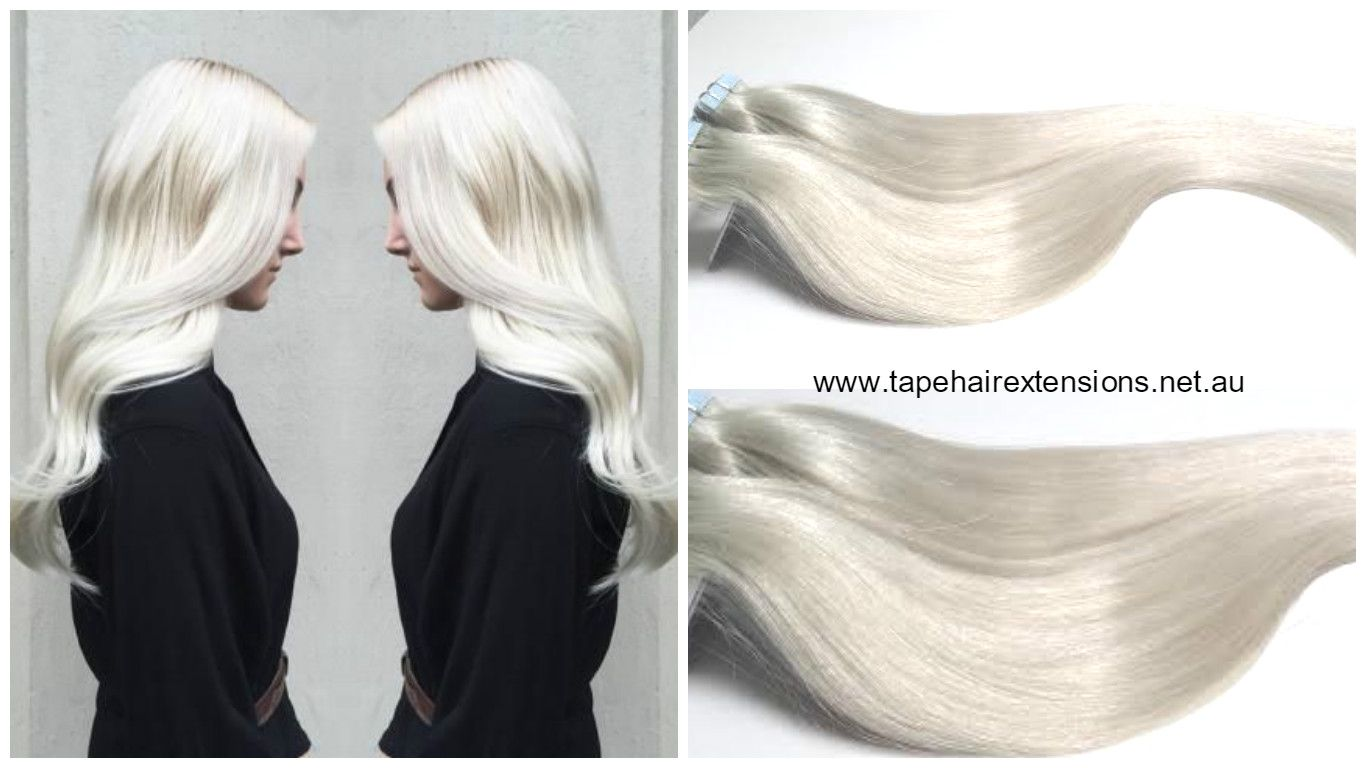 White Blonde Hair Extensions Super White Blonde No Yellow This