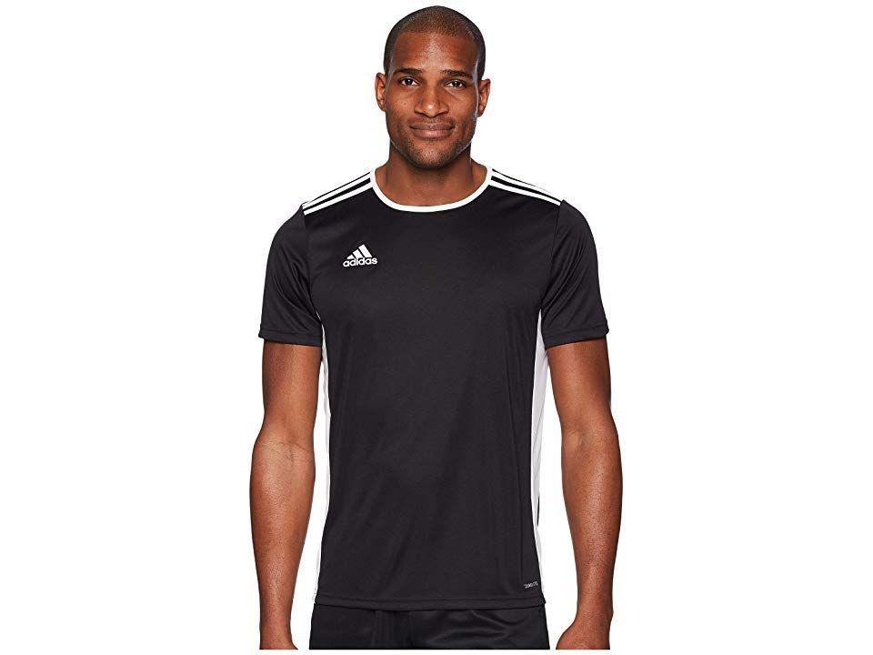adidas Entrada 18 Jersey (Black/White) Men's Clothing. Work or ...