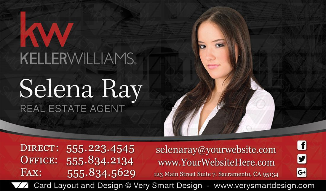 Keller williams business card custom real estate design 1d real keller williams business card custom real estate design 1d red and black real estate business cards very smart design reheart Image collections