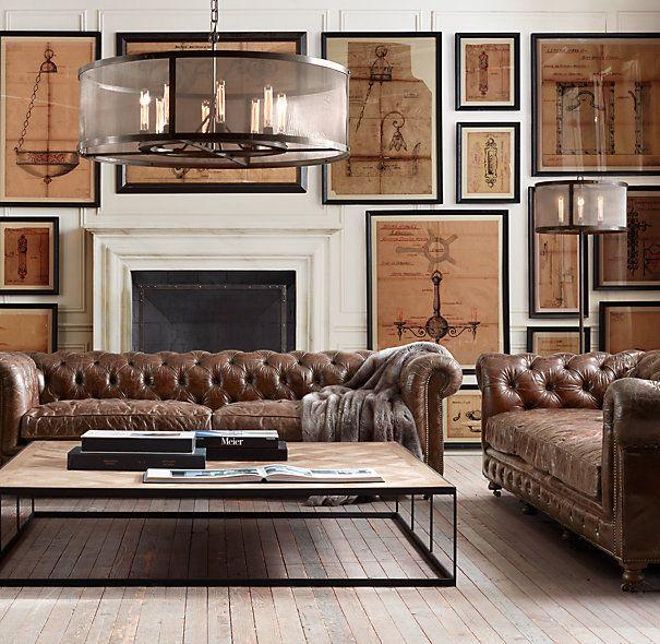 vintage leather alesmith pinterest bureau victorien d cor de bureau et canap s chesterfield. Black Bedroom Furniture Sets. Home Design Ideas