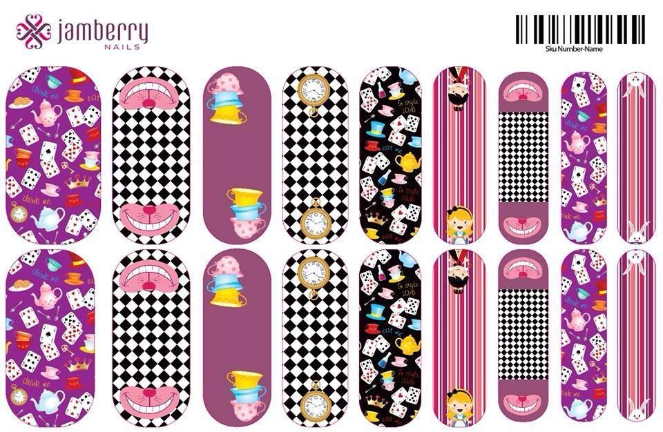 Alice in Wonderland Inspired Jamberry Nail Wraps. Create Your own ...