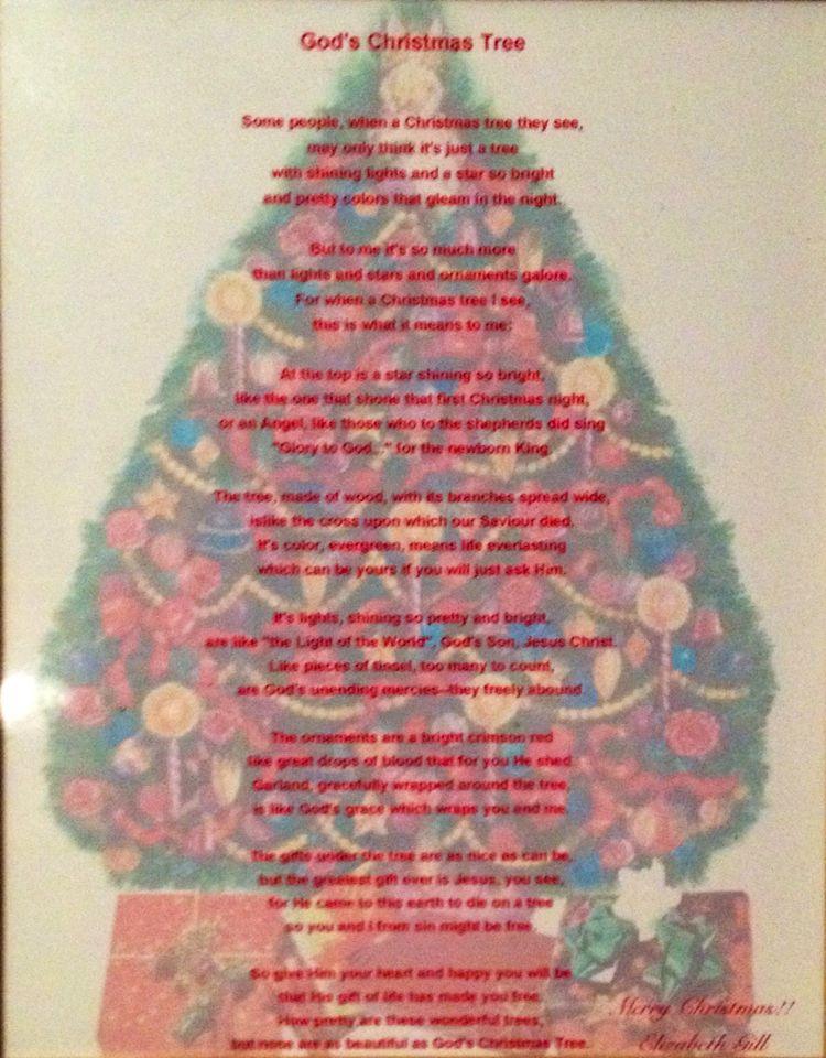 Christmas Poem God S Christmas Tree 2 Christmas Tree Christmas Poems How To Make Ornaments