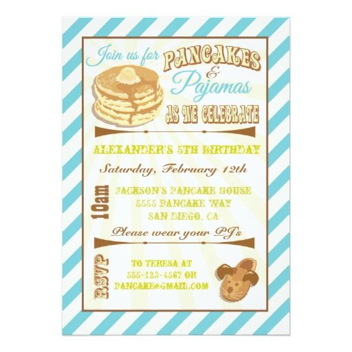 Shopping Pancakes and Pajamas Birthday Party Invitations online after you search a lot for where to buy