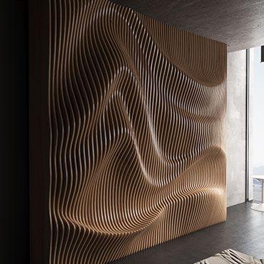 Large Wooden Wall Art Parametric Sculpture Wood Sculpture With