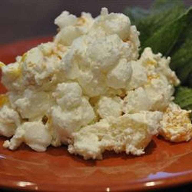 Coconut Ambrosia Salad Recipe Desserts, Salads with mandarin oranges, crushed pineapple, frozen whipped topping, shredded coconut, mini marshmallows, milk, cocktail cherries