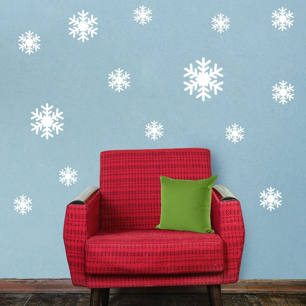 BandG Snowflake Wall Stickers For Girl Room Decorative New Windows Wall Paste White Snowflakes Room Decorative >> Tried it! Love it! Click the image. : Free Home and Kitchen