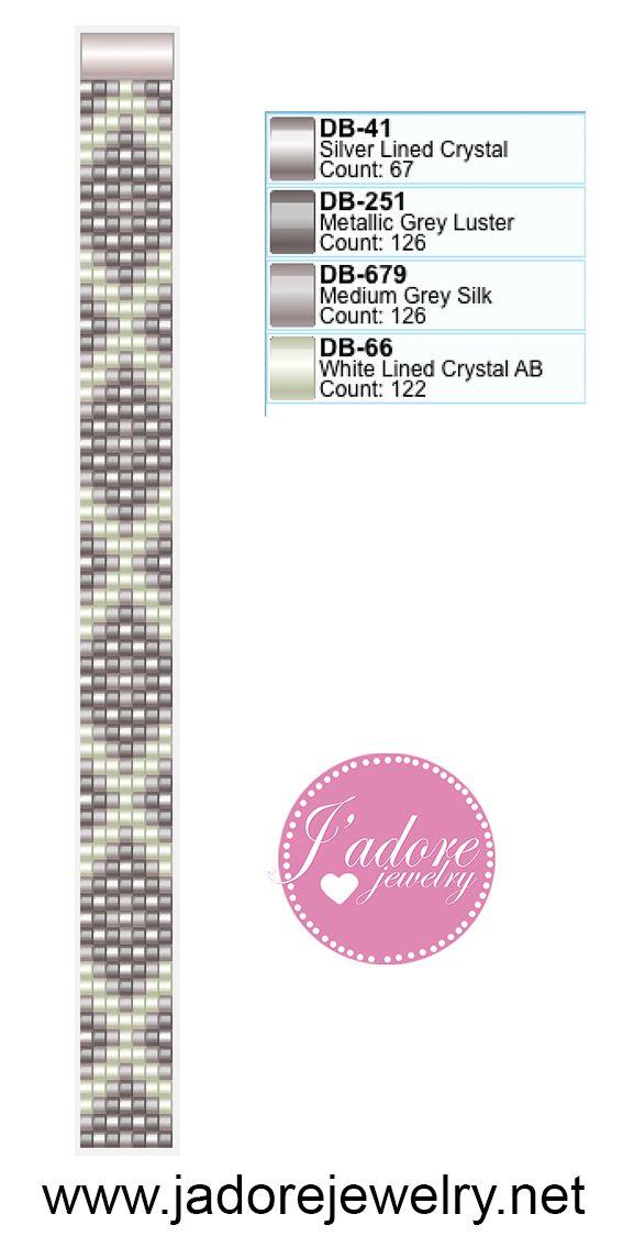 Miyuki delica weefarmband | Bracelet | Pinterest | Telar, Pulseras y ...
