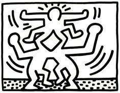 Kleurplaat Keith Haring Google Zoeken Drawing Skills In 2018