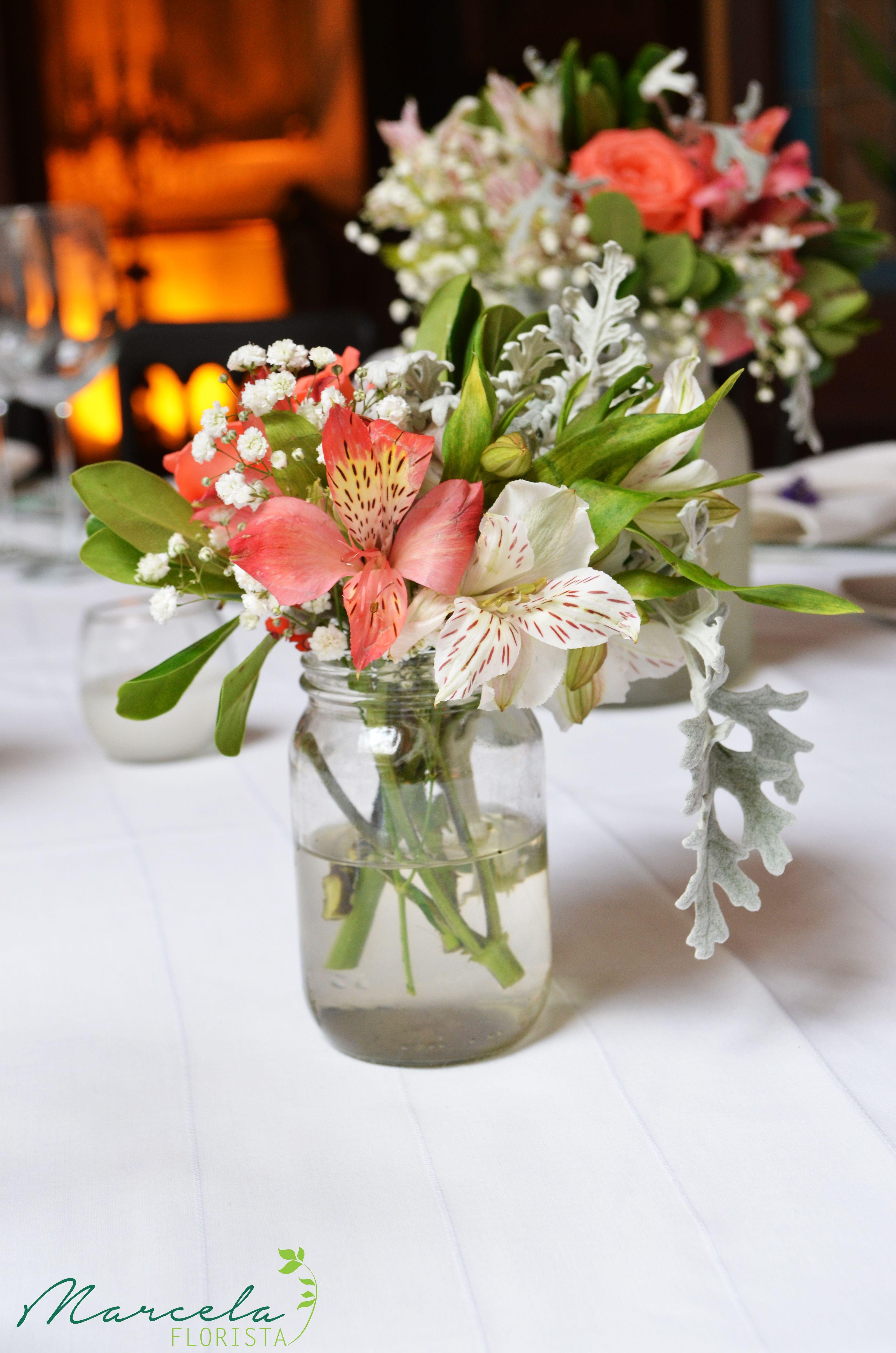 Centro De Mesa Boda Peque O Decoraci N Pinterest Mesas  ~ Centros De Flores Naturales Para Mesas