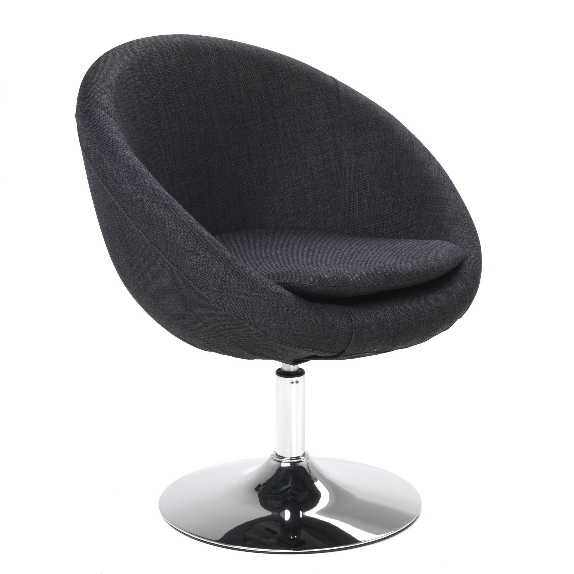 fauteuil pivotant noir linley fauteuils fauteuils et. Black Bedroom Furniture Sets. Home Design Ideas