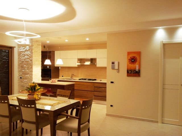 Sala da pranzo cucina- Dining Room Kitchen #Artemide Pierce ...